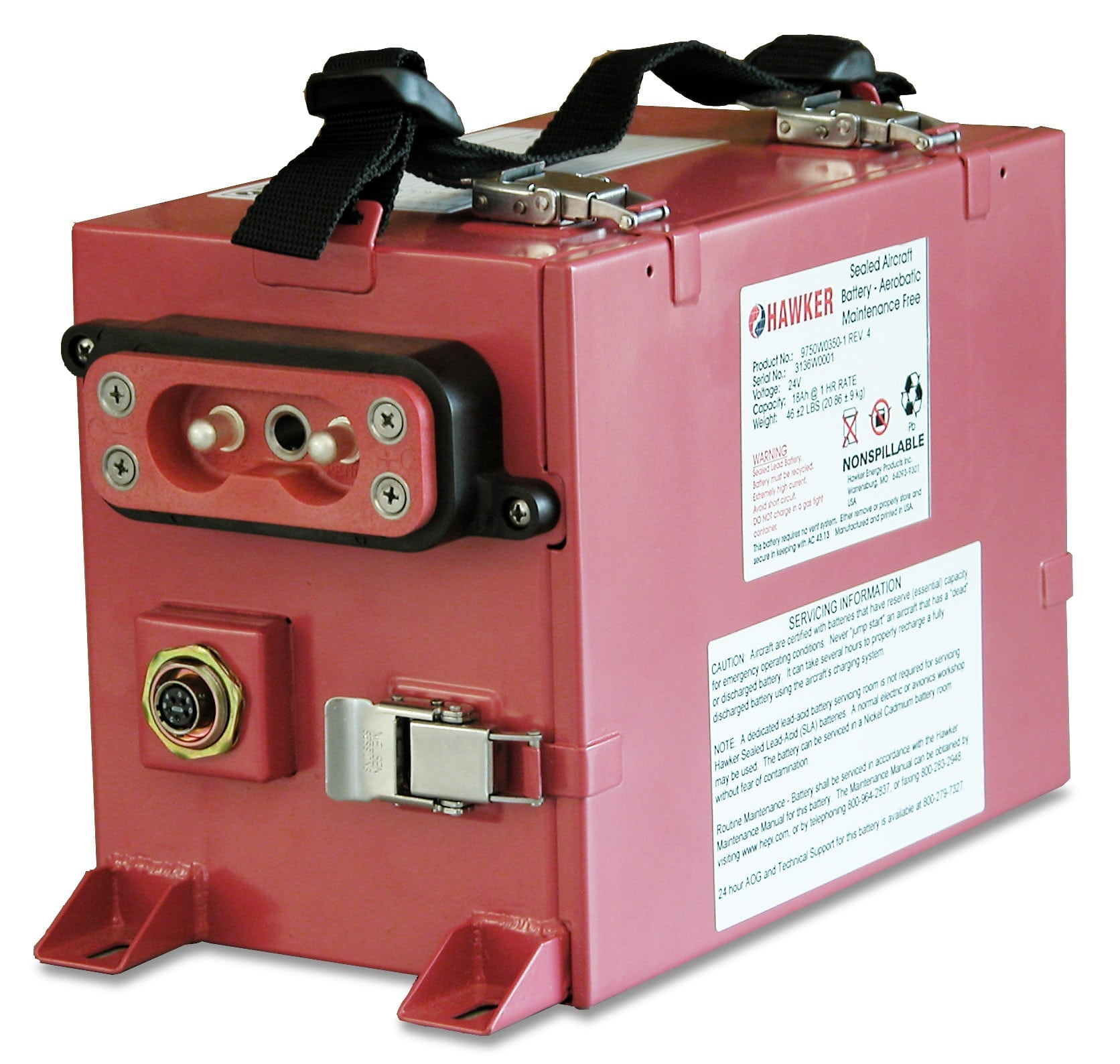 Securaplane/Hawker Lead Acid battery