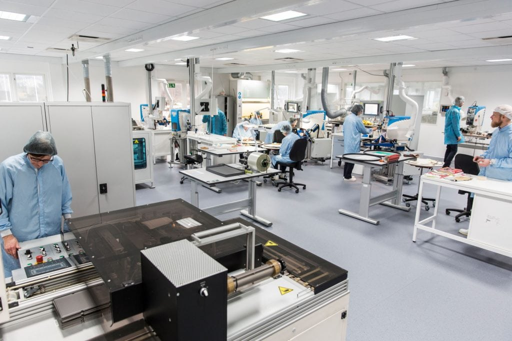 Ceramic clean room at Denmark